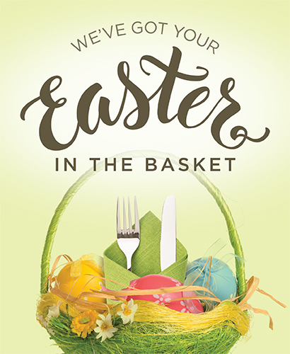 We've got your Easter in the basket.