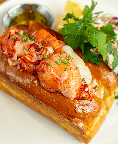 Lobster Roll with Garnish